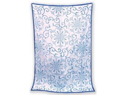 Deka mikro vzorovaná 150/200 cm - Gita modrá