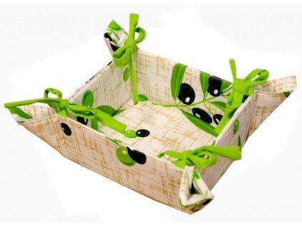 Košík na pečivo 34/34 cm - Olivy  421