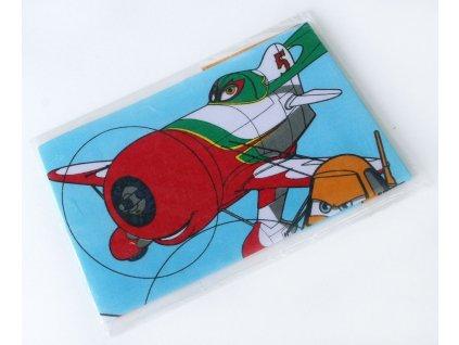 Dětský kapesník potisk 2 ks - Letadla  75200