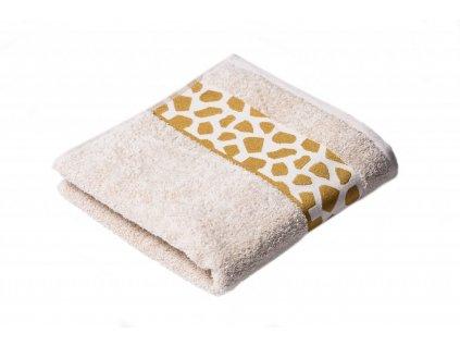 Béžový Froté ručník Elise 50/100 cm