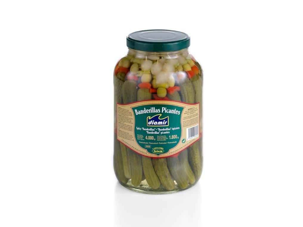 banderilla nakládaná zelenina velká pikant
