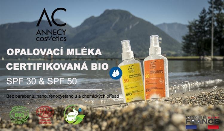 ANNECY COSMETICS| BIO přípravky na opalování SPF 30, SPF 50 - PraveBio.cz