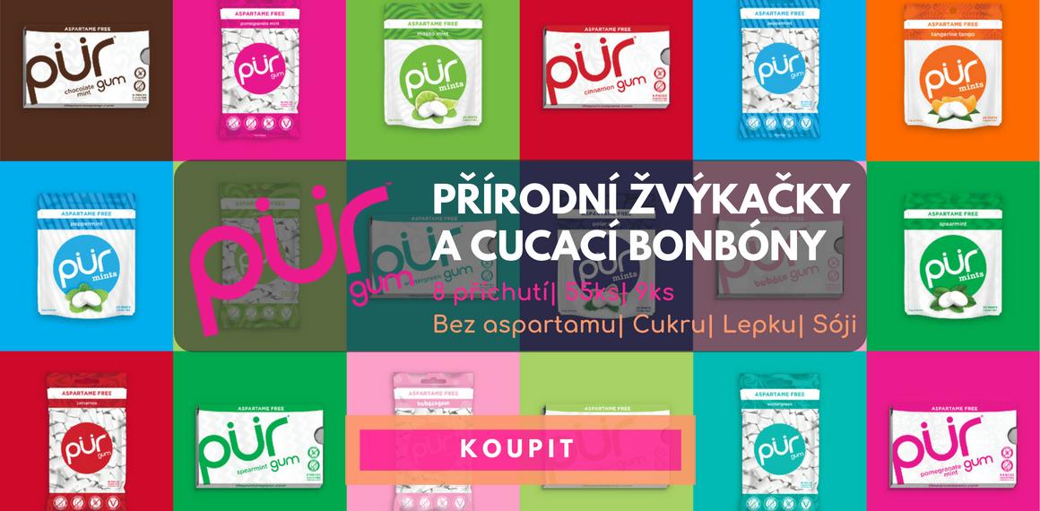 PÜR - Žvýkačky a bonbóny bez aspartamu