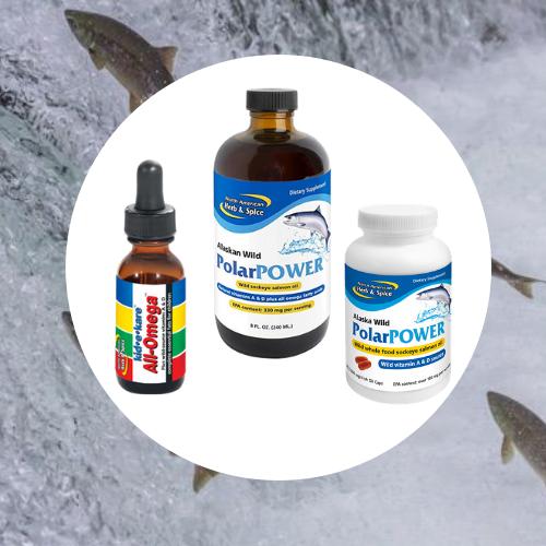 Rybí olej z aljašského lososa