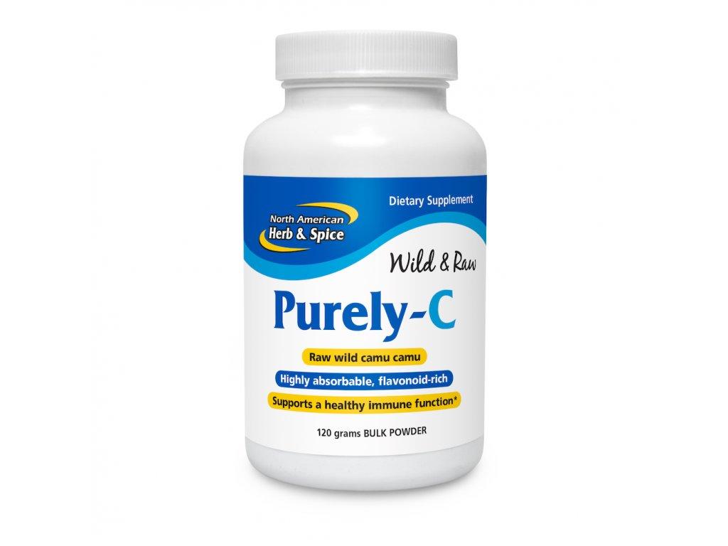 NORTH AMERICAN HERB & SPICE - RAW Vitamín C - PURELY-C [120g]