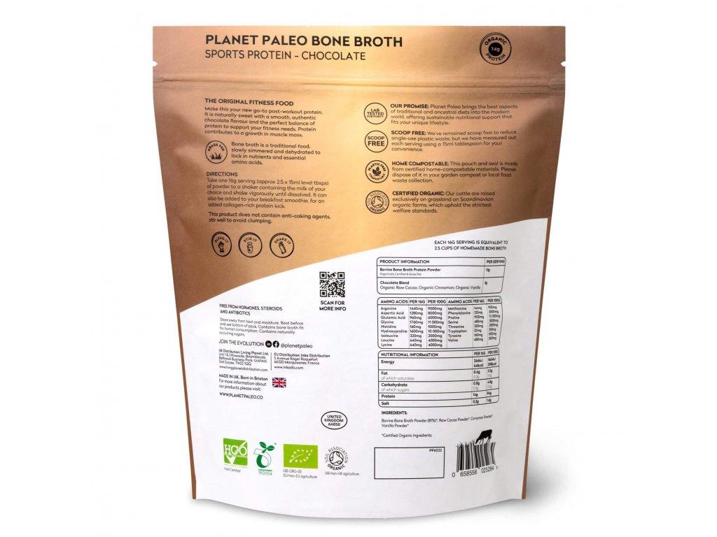 PLANET PALEO - BIO Sušený protein (nejen) pro sportovce - Čokoládová příchuť