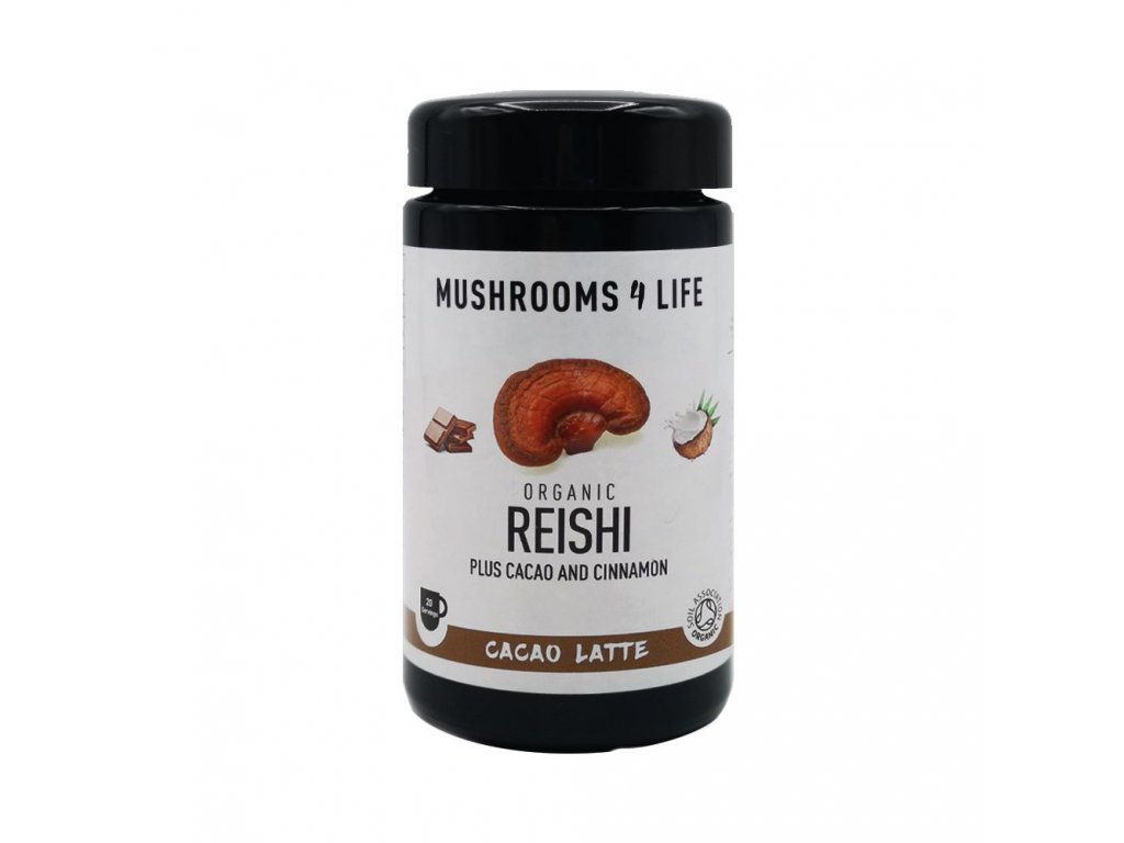 MUSHROOMS4 Life - Kokosové laté s houbou ganoderma, kakaem a skořicí - 20 dávek
