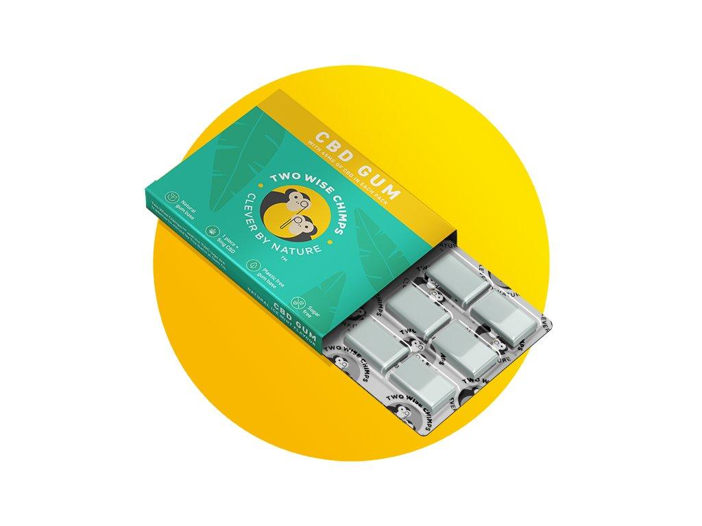 TWO WISE CHIMPS - Žvýkačky s CanaBiDiolem