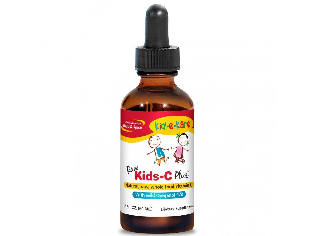 NORTH AMERICAN HERB & SPICE - RAW Tekutý vitamin C (nejen) pro děti - KIDS-C Plus [60 ml]