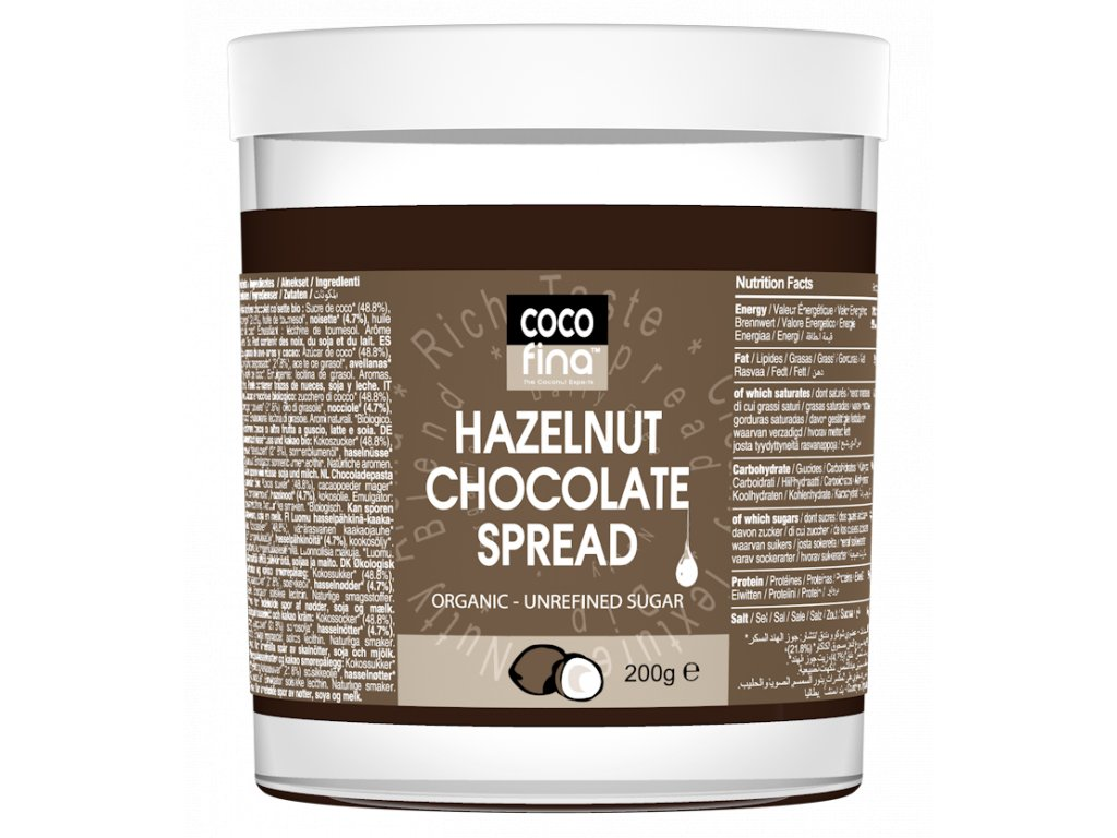 Cocofina Organic Chocolate Spread 200g Glass Jar