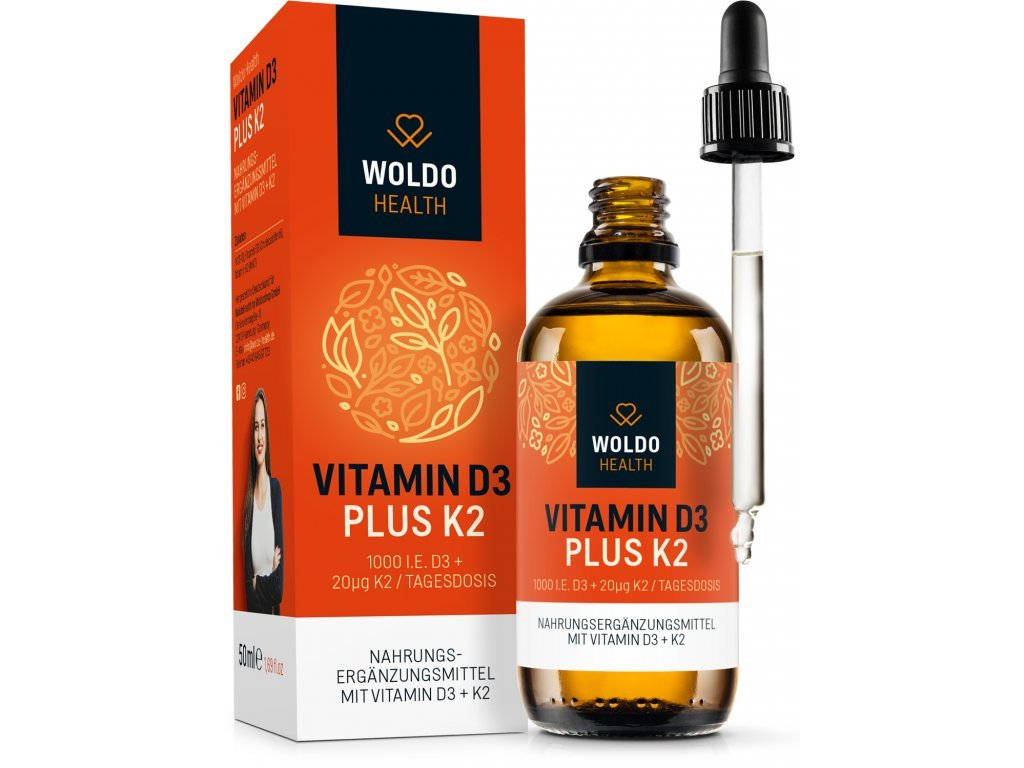WOLDOHEALTH - Vitamín D3 plus K2