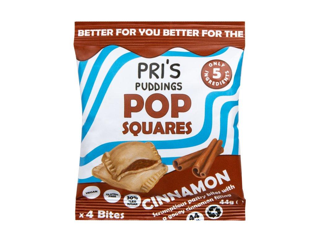 Pop Squares taštičky se skořicovou náplní   PRI'S PUDDINGS