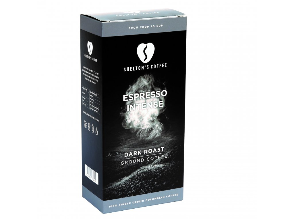 Mletá káva Arabica - Espresso Intense - 100% single Colombian origin | SHELTON'S COFFEE