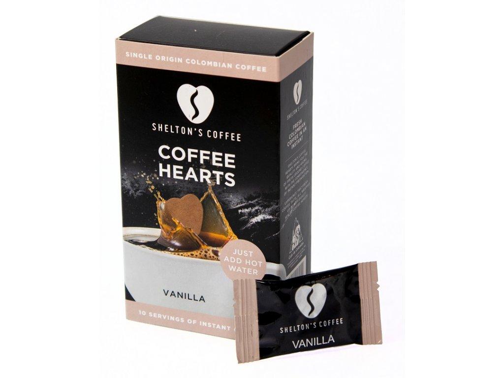 SHELTON'S COFFEE - Přírodní instantní káva s příchutí pravé vanilky