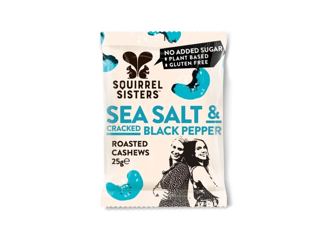 Pražené kešu s mořskou solí a černým pepřem   SQUIRREL SISTERS