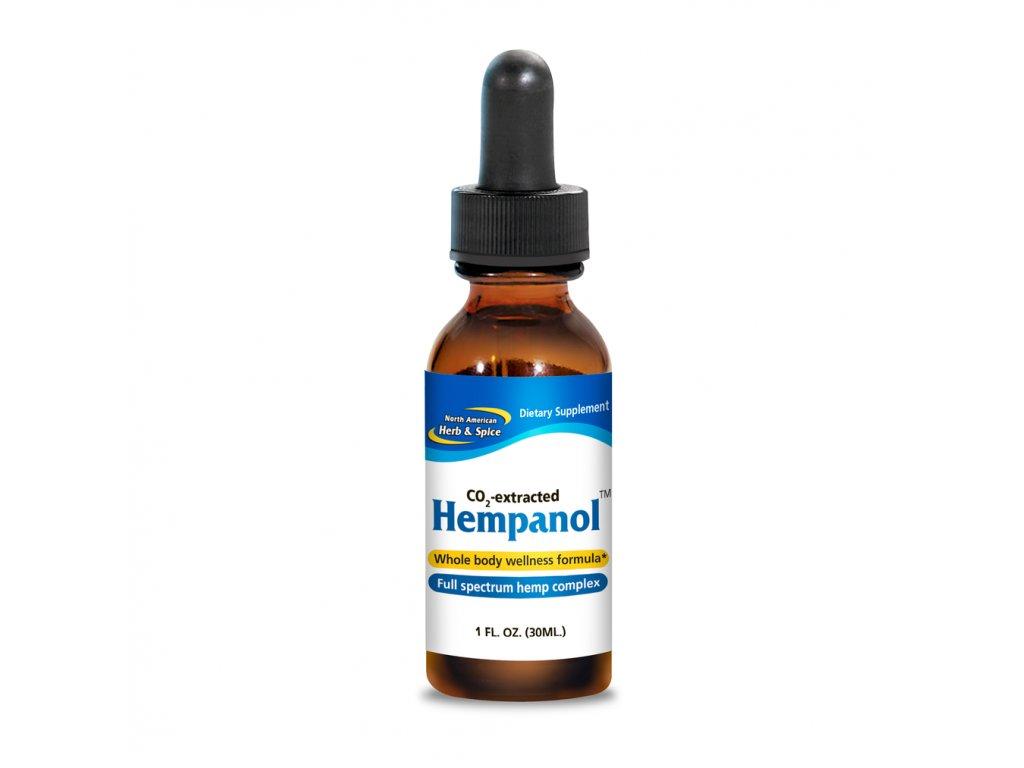 NORTH AMERICAN HERB & SPICE - Širokospektrální KONOPNÝ extrakt a OREGANOL P73 2v1 - HEMPANOL ORIGINAL- [30ml]