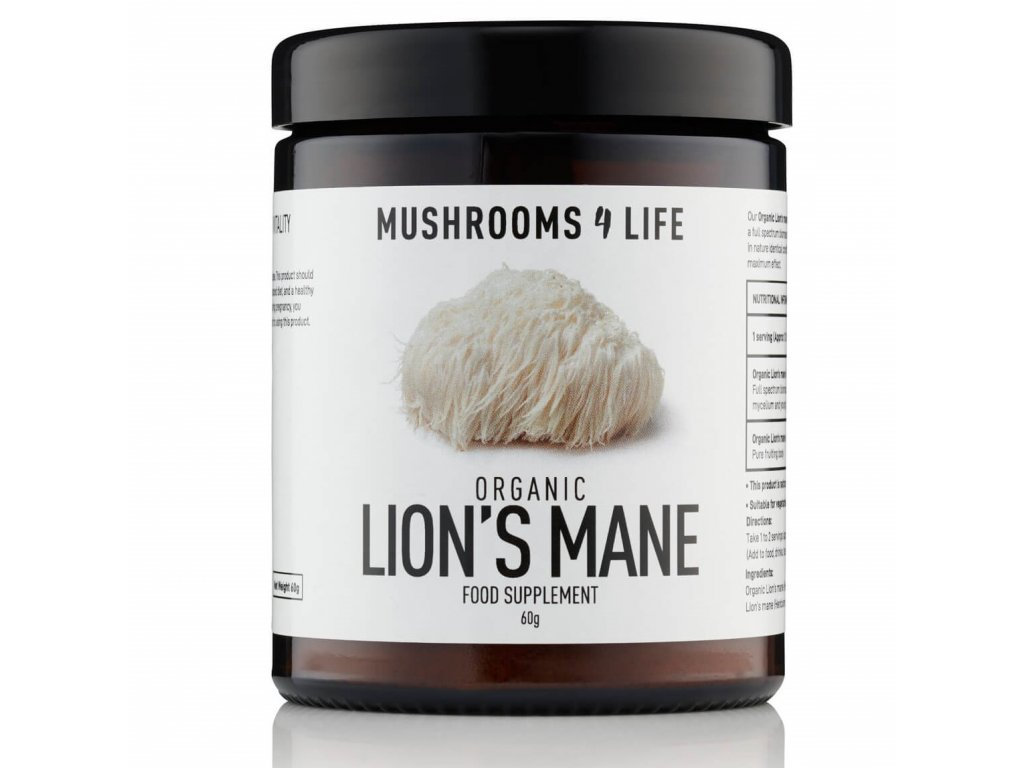MUSHROOMS4 Life - Vitální houba Korálovec ježatý (Hericium erinaceus) - LION'S MANE