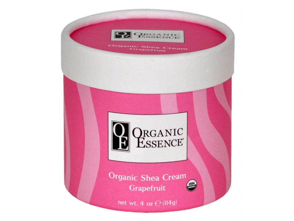 ORGANIC ESSENCE SHEA CREAM - Regenerační tělový balzám s vůní sladkého pomeranče a grapefruitu
