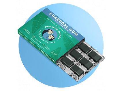 TWO WISE CHIMPS - Žvýkačky s aktivním černým uhlím