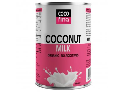 COCOFINA - BIO KOKOSOVÉ MLÉKO s obsahem 76% kokosové dužiny