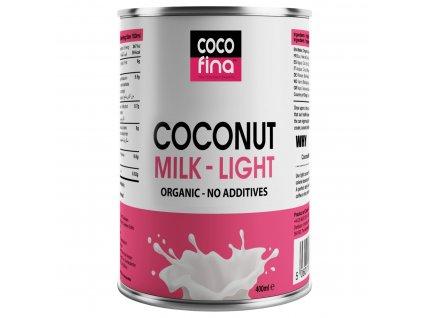COCOFINA - BIO KOKOSOVÉ MLÉKO LIGHT s obsahem 46% kokosové dužiny