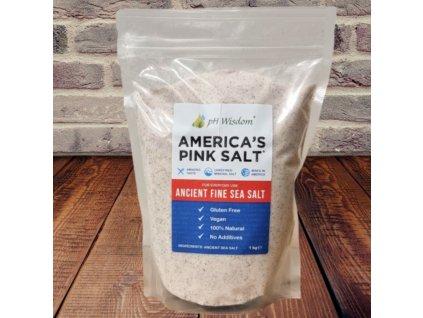 Jemně mletá mořská sůl z Utahu - AMERICA'S PINK SALT™   Real Salt