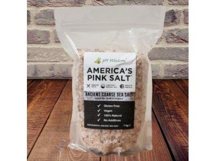 AMERICA'S PINK SALT™ - Mořská sůl z Utahu [HRUBĚ MLETÁ]