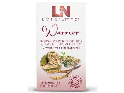 LIVING NUTRITION - WARRIOR - BIO Aktivní Bylinný Doplněk Stravy kvašený s houbou CORDYCEPS [60 kapslí]