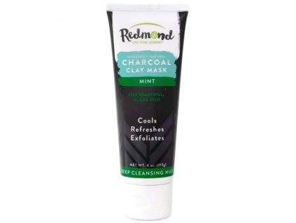 REDMOND CLAY- Jílová maska s aktivním uhlím a mátou - CHARCOAL MINT