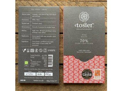 Hořká čokoláda 70% KAKAO - Pisa, HAITI | TOSIER CHOCOLATEMAKER