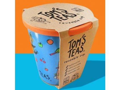 Dětský EKO hrneček se slámkou v modré barvě   TOM'S TEAS