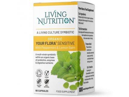 Fermentovaná synbiotika Your Flora Sensitive s mátou peprnou a meduňkou lékařskou | LIVING NUTRITION