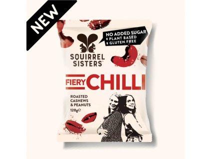Pražené arašídy a kešu s chilli | SQUIRREL SISTERS