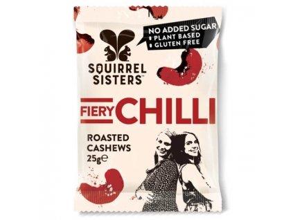 Pražené kešu s chilli   SQUIRREL SISTERS