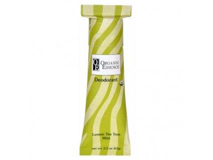 ORGANIC ESSENCE - BIO Tuhý Deodorant s vůní LEMON TEA TREE a MÁTY