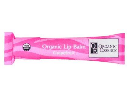 ORGANIC ESSENCE LIP BALM - Hydratační pomáda na rty s příchutí růžového grapefruitu