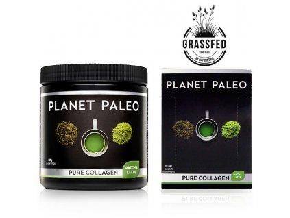 PLANET PALEO - Kolagenový nápoj se zeleným čajem - MATCHA LATÉ