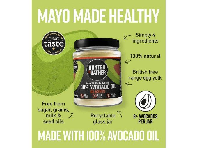 HUNTER & GATHER - Avokádová majonéza - CLASSIC