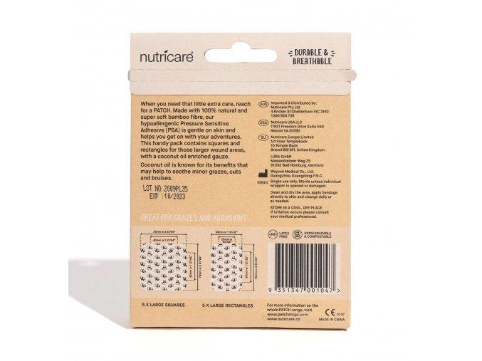 PATCH - Bambusové náplasti s kokosovým olejem pro děti [25 ks]
