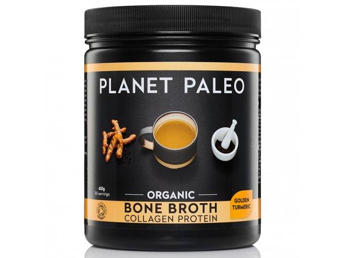 PLANET PALEO - BIO Sušený hovězí vývar z kostí - KOLAGENOVÝ PROTEIN GOLDEN TURMERIC