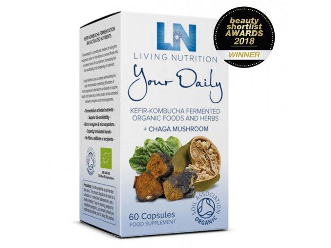 Living Nutrition - Your Daily s houbou ČAGA - pravebio.cz