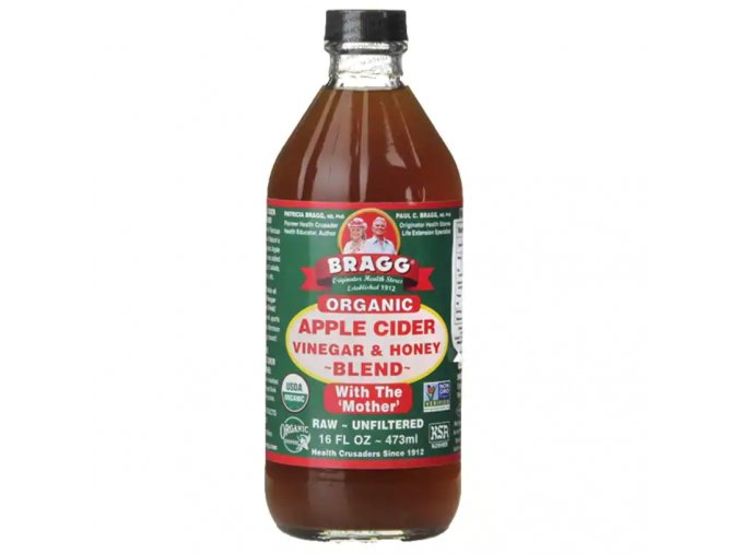 BRAGG - Prémiový BIO Raw Jablečný Ocet s MEDEM