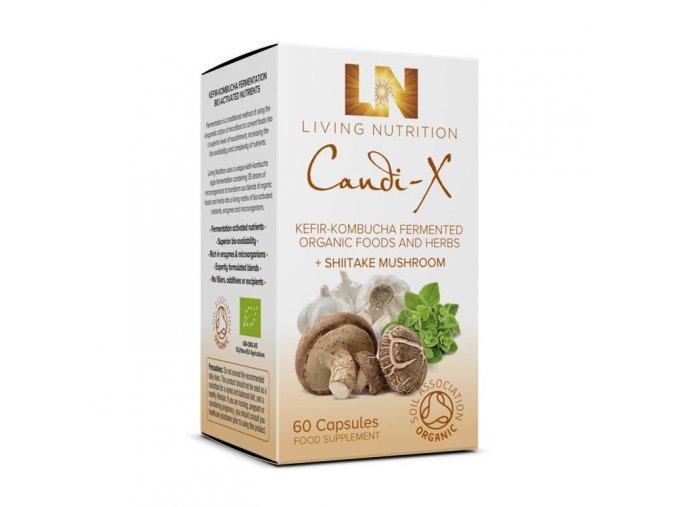 LIVING NUTRITION-CANDI-X doplněk stravy na očistu trávícího ústrojí (60 tobolek)-pravebio.cz
