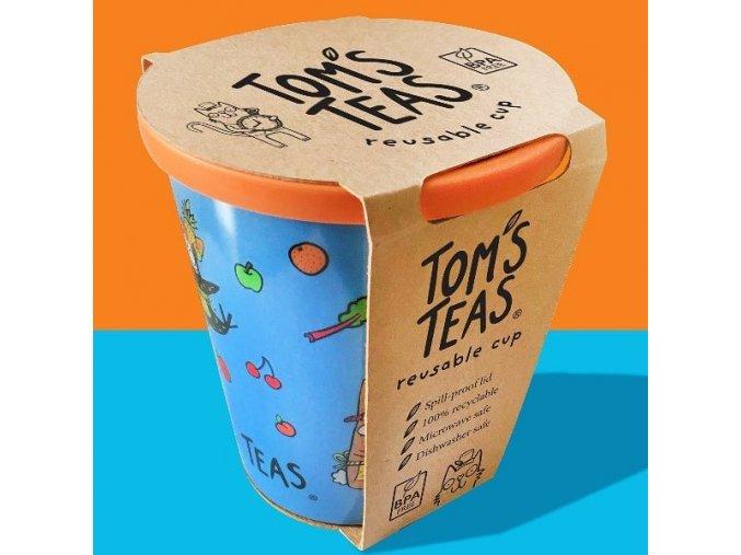 Dětský EKO hrneček se slámkou v modré barvě | TOM'S TEAS