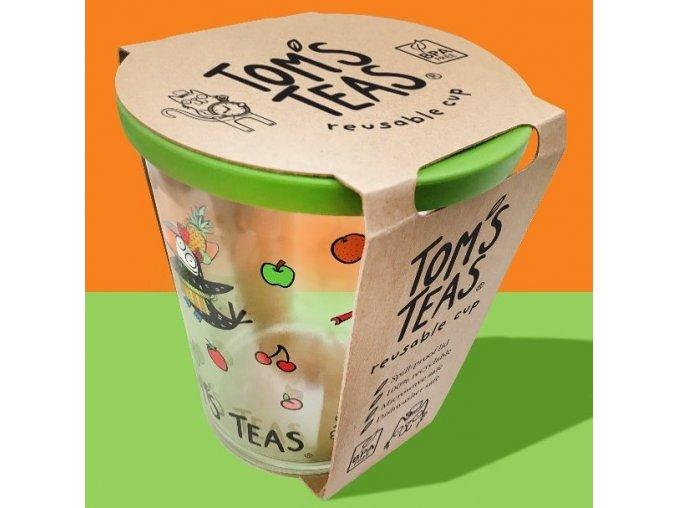 Dětský eko hrneček se slámkou  v průhledném provedení   TOM'S TEAS