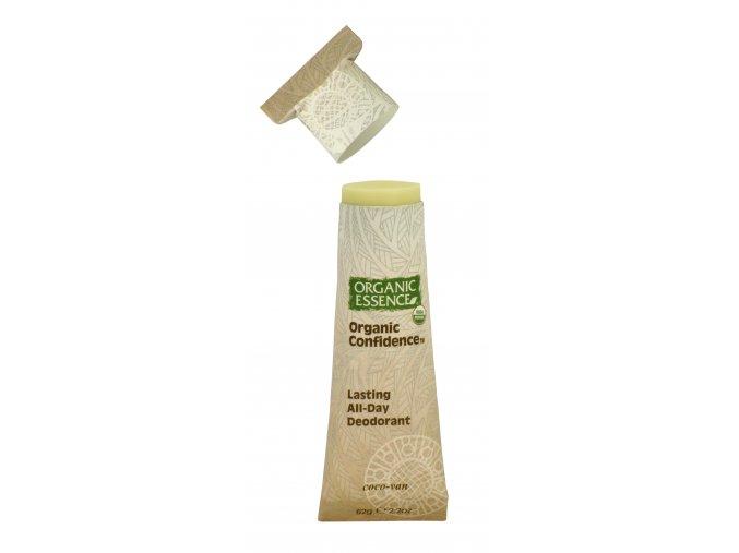 ORGANIC ESSENCE - Tuhý Deodorant s vůní BOURBON VANILKY a KOKOSU [USDA Organic, 62g]