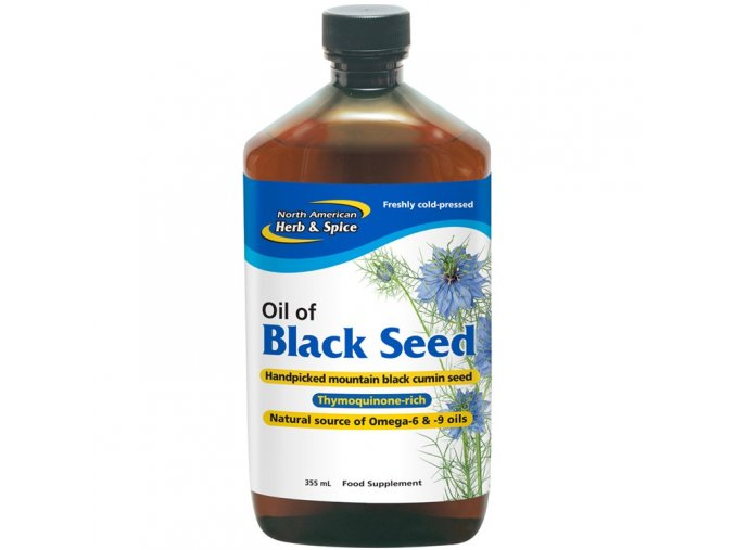 NORTH AMERICAN HERB & SPICE - BLACK SEED - Olej z EGYPTSKÉHO ČERNÉHO KMÍNU [355ml]