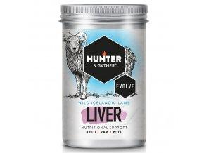 HUNTER & GATHER - Mrazem sušená jehněčí játra pro orgánovou výživu [90 tobolek]