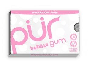 PÜR - Přírodní žvýkačky bez Aspartamu [9 Ks]-bubblegum chut