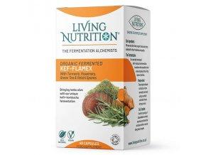 LIVING NUTRITION - KEF-FLAMEX - BIO Aktivní Bylinný Doplněk Stravy kvašený s REISHI houbou [60 kapslí]